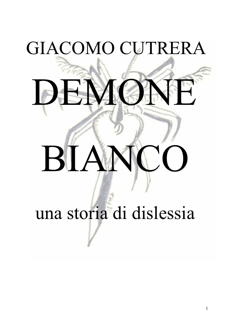 demone bianco giacomo cutrera