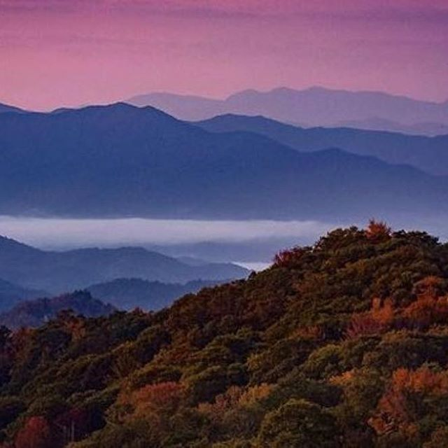 The Blue Ridge Mountains Are Gloriously Living Up To Their Name Photo By Krist Great Smoky Mountains National Park Great Smoky Mountains Wonders Of The World