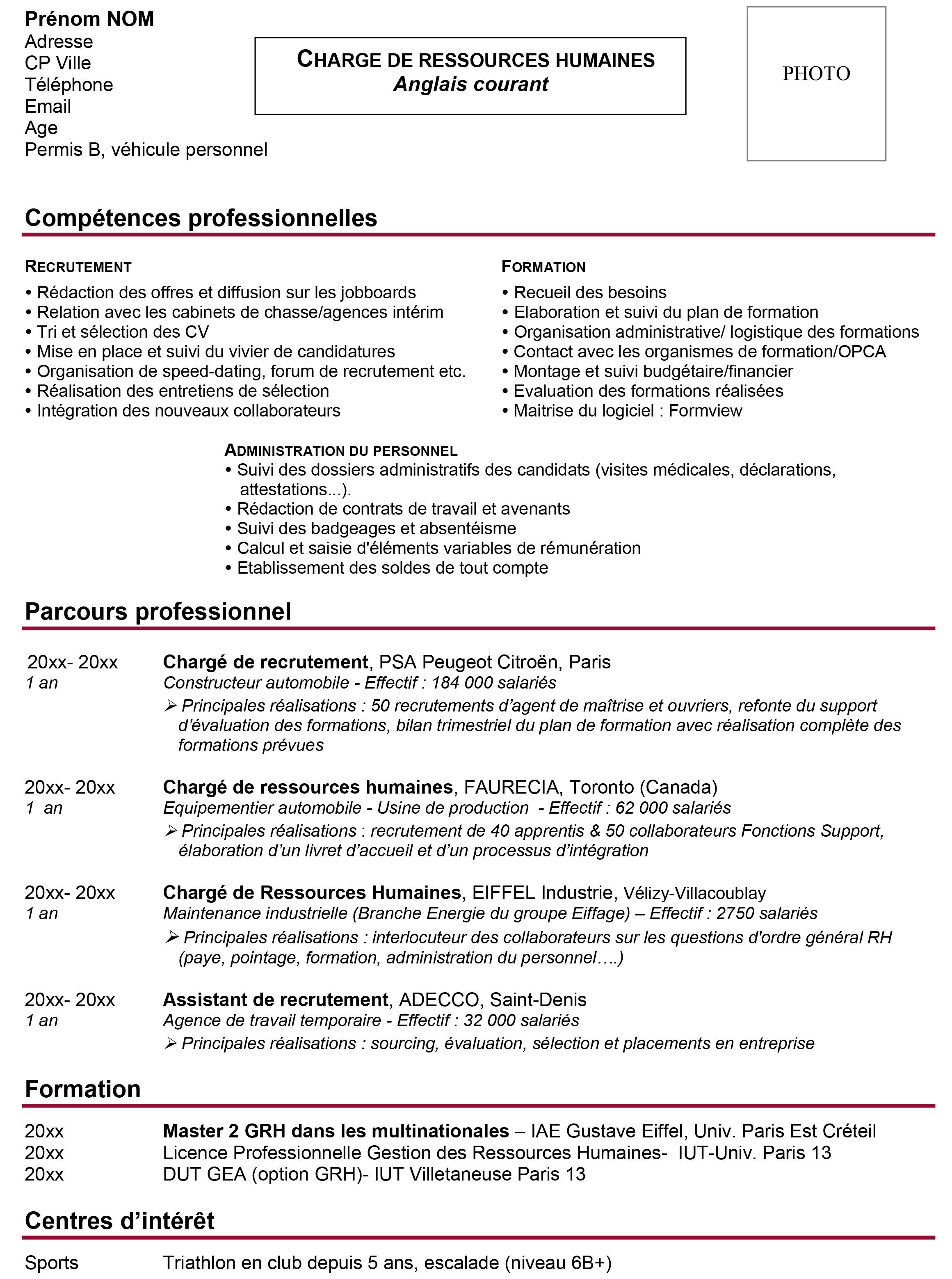 Exemple De Cv Par Competences Objectif Emploi Orientation Lettre De Motivation Exemple De Lettre Modele Lettre De Motivation