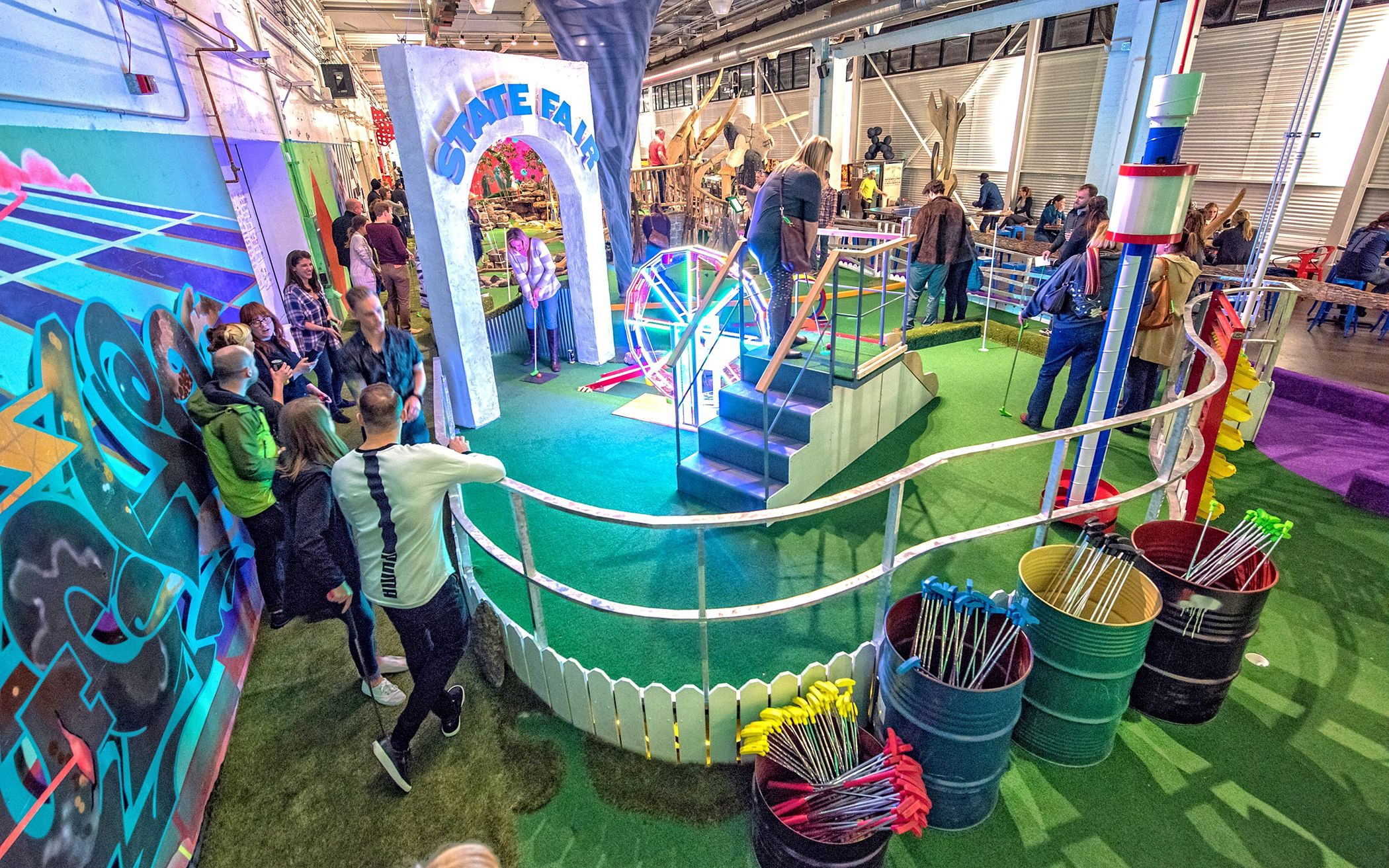 Artistdesigned mini golf at can can wonderland in st