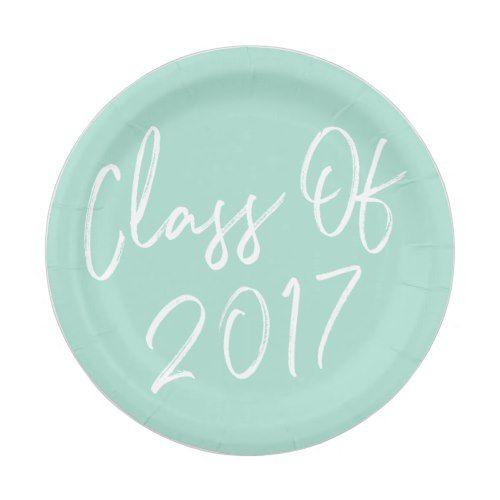 Modern Class of 2017 Graduation Paper Plates  sc 1 st  Pinterest & Modern Class of 2017 Graduation Paper Plates   Watercolor ...
