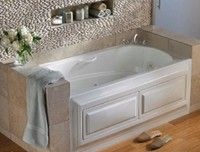 "Santa Clara Whirlpool & Air Bath for alcove installation. Removable panels provide access to the motors. Features comfortable armrests and grab bars. 60"" x 35"""
