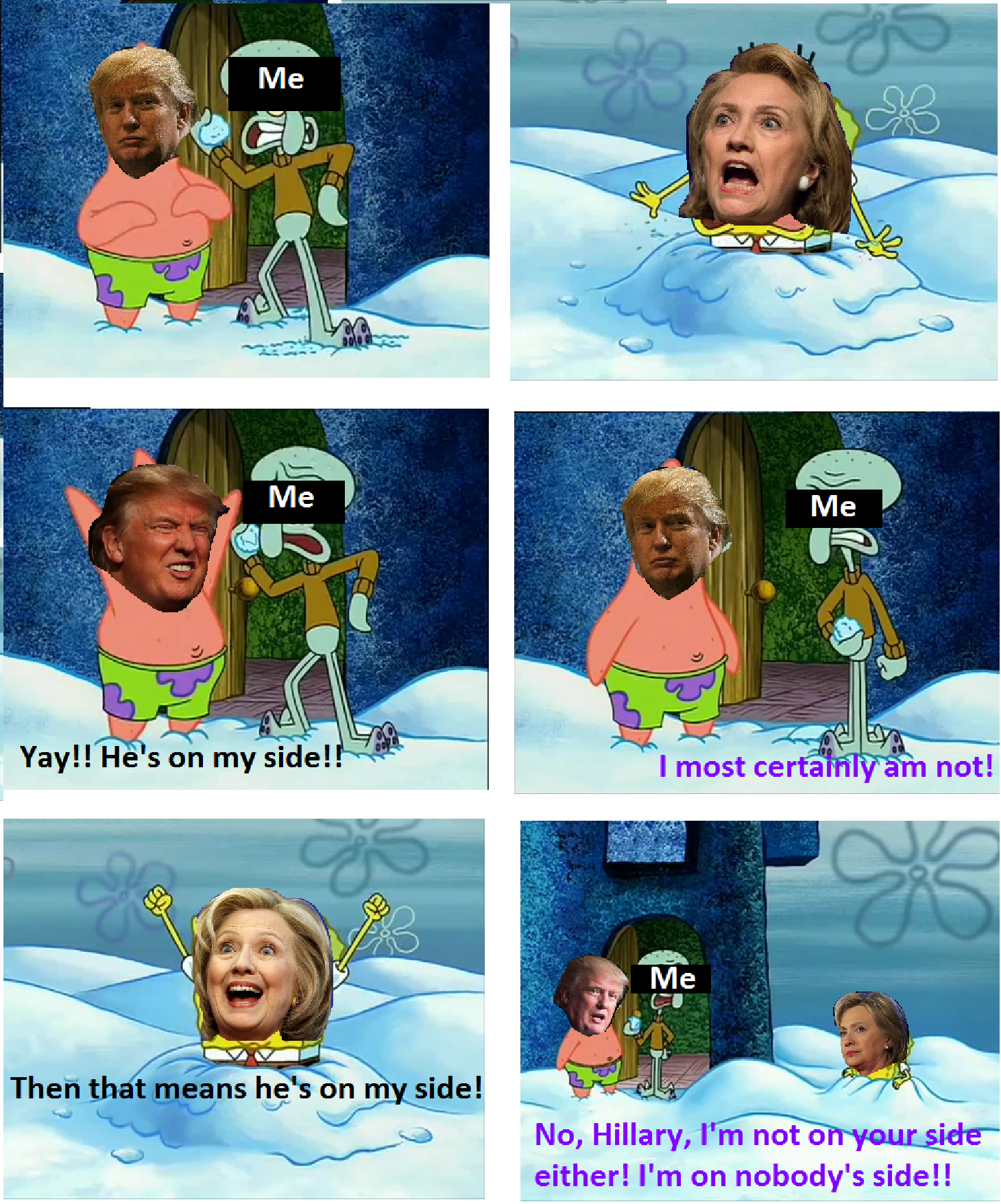What the 2016 election feels like trump clinton spongebob politics 2016 election lol