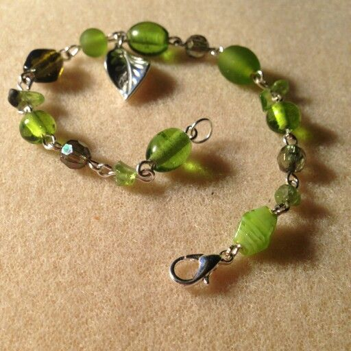 Bright Green Bead and Crystal Bracelet.  https://www.etsy.com/uk/listing/222308436/handmade-bright-green-bead-and-crystal?ref=shop_home_active_3