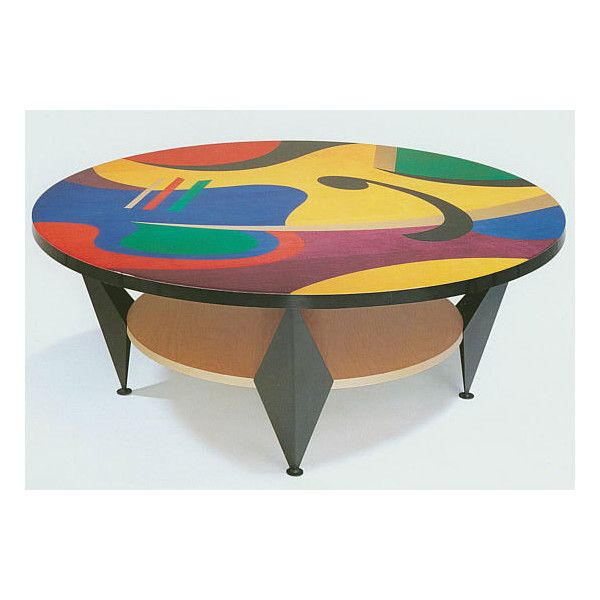 Contemporary Coffee Tables Pablo Colorful 48 Inch Round Cocktail