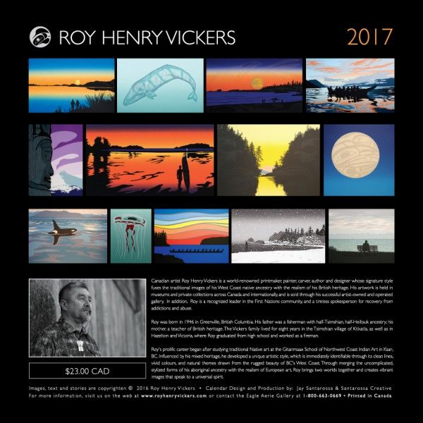 Roy Henry Vickers 2017 Calendar | ART&CULTURE | Art, Art