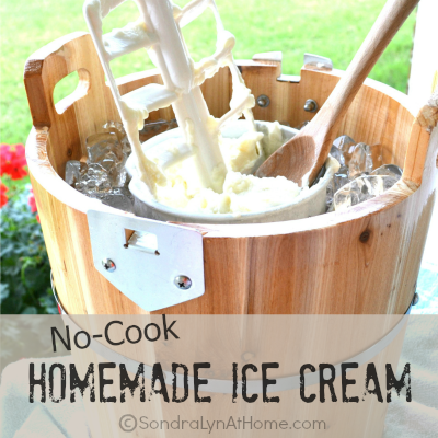 No-Cook Homemade Ice Cream #homemadeicecream
