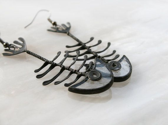 Hey, I found this really awesome Etsy listing at https://www.etsy.com/listing/192512685/fish-bone-clear-earrings-skeleton