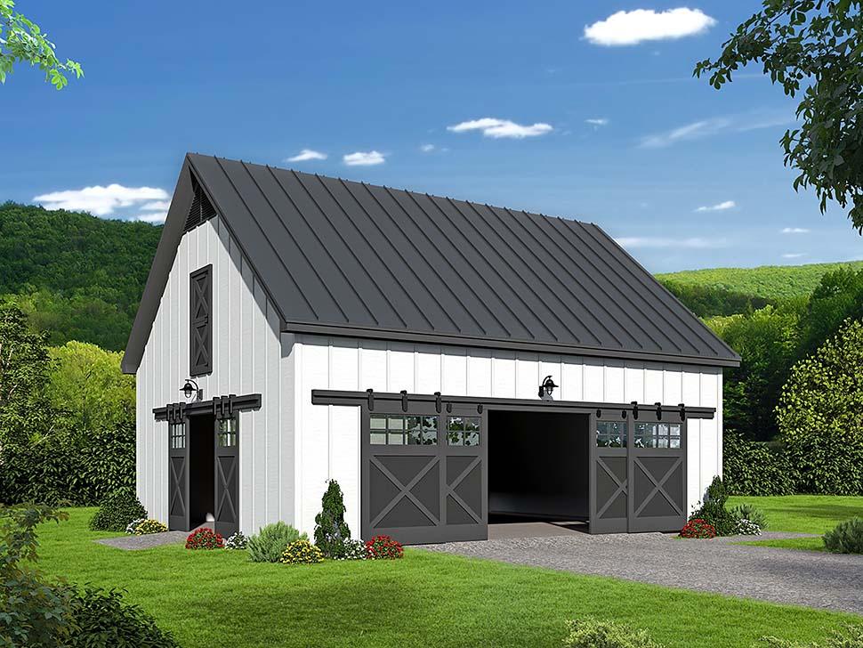 Southern Style 2 Car Garage Plan Number 51649