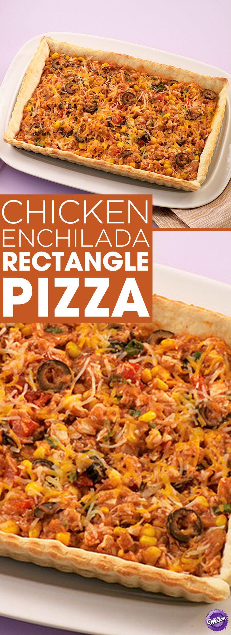 Chicken enchilada rectangle pizza recipe rectangle