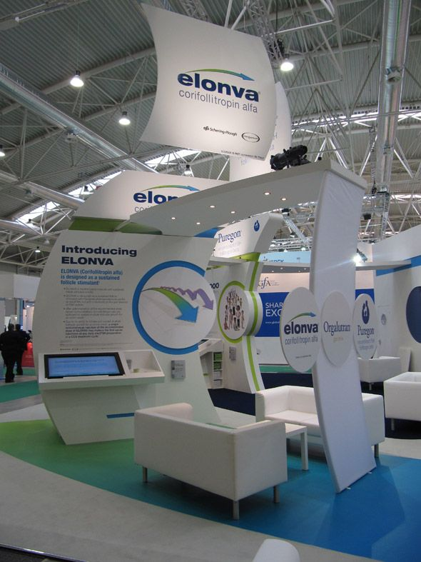 Pharmaceutical Exhibition Stand Design : Pharmaceutical exhibition stand like the wave effect display