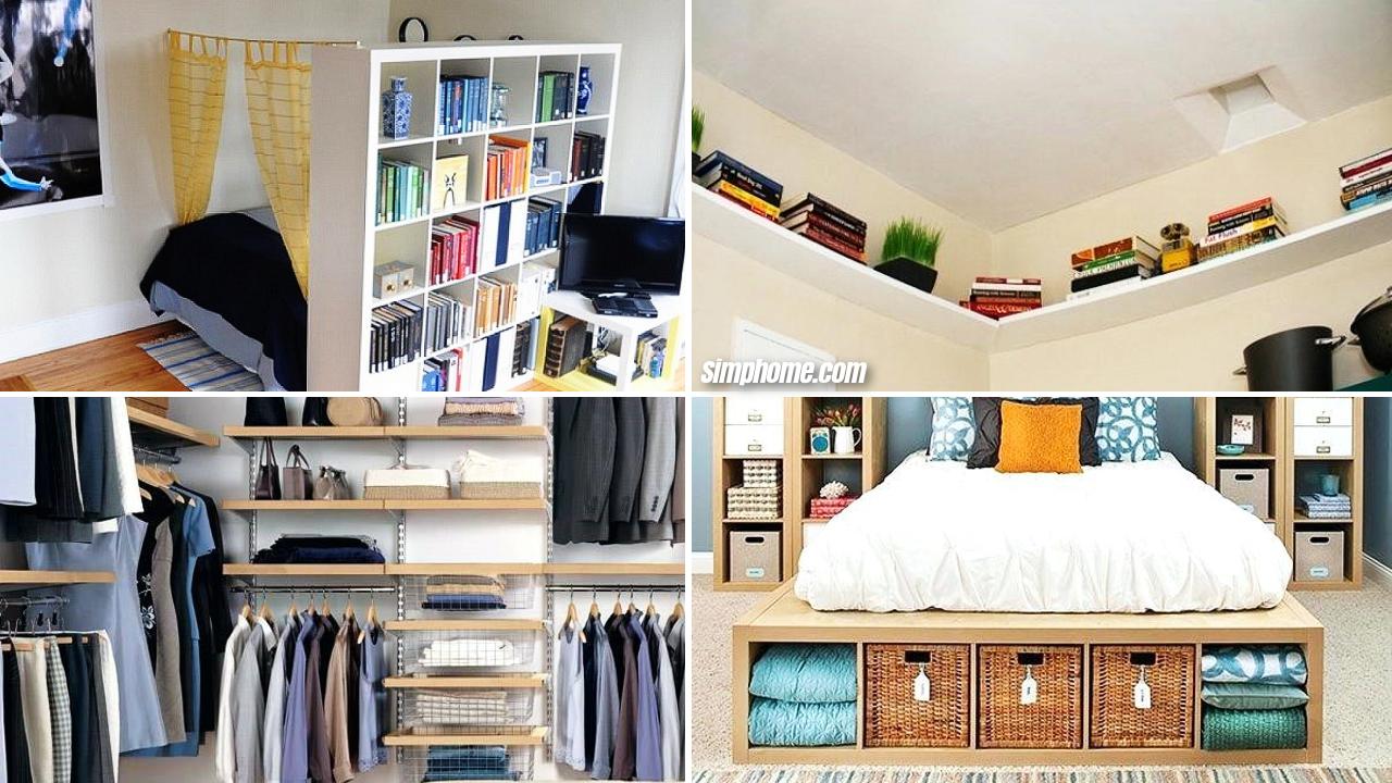 10 Diy Small Bedroom Storage Ideas Simphome Small Bedroom Storage Diy Bedroom Storage Small Bedroom Diy