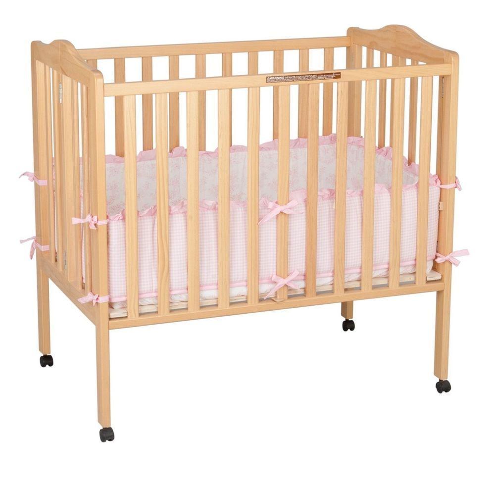Baby Bedding Nursery Portable Crib Fold Away Furniture, JPMA Certified New