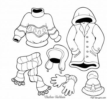 Free Printable Winter Clothes Worksheets Coloring Pages For Kids