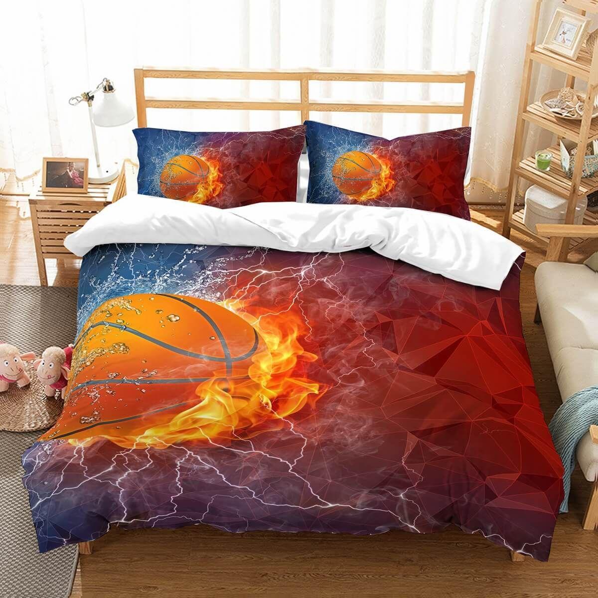 3d Customize The Basketball Bedding Set Duvet Cover Set Bedroom