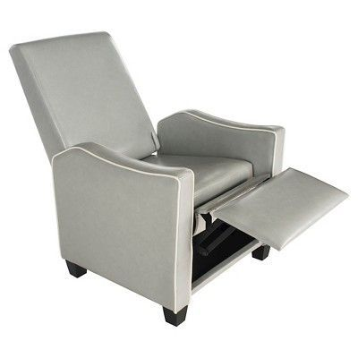 Holden Recliner Chair - Grey / White (Grey/White) - Safavieh