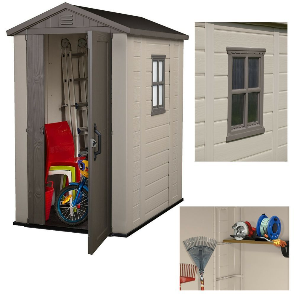 Outdoor Storage Garden Shed Metal Utility Bike Foundation Patio Building  Shelter In Garden U0026 Patio,