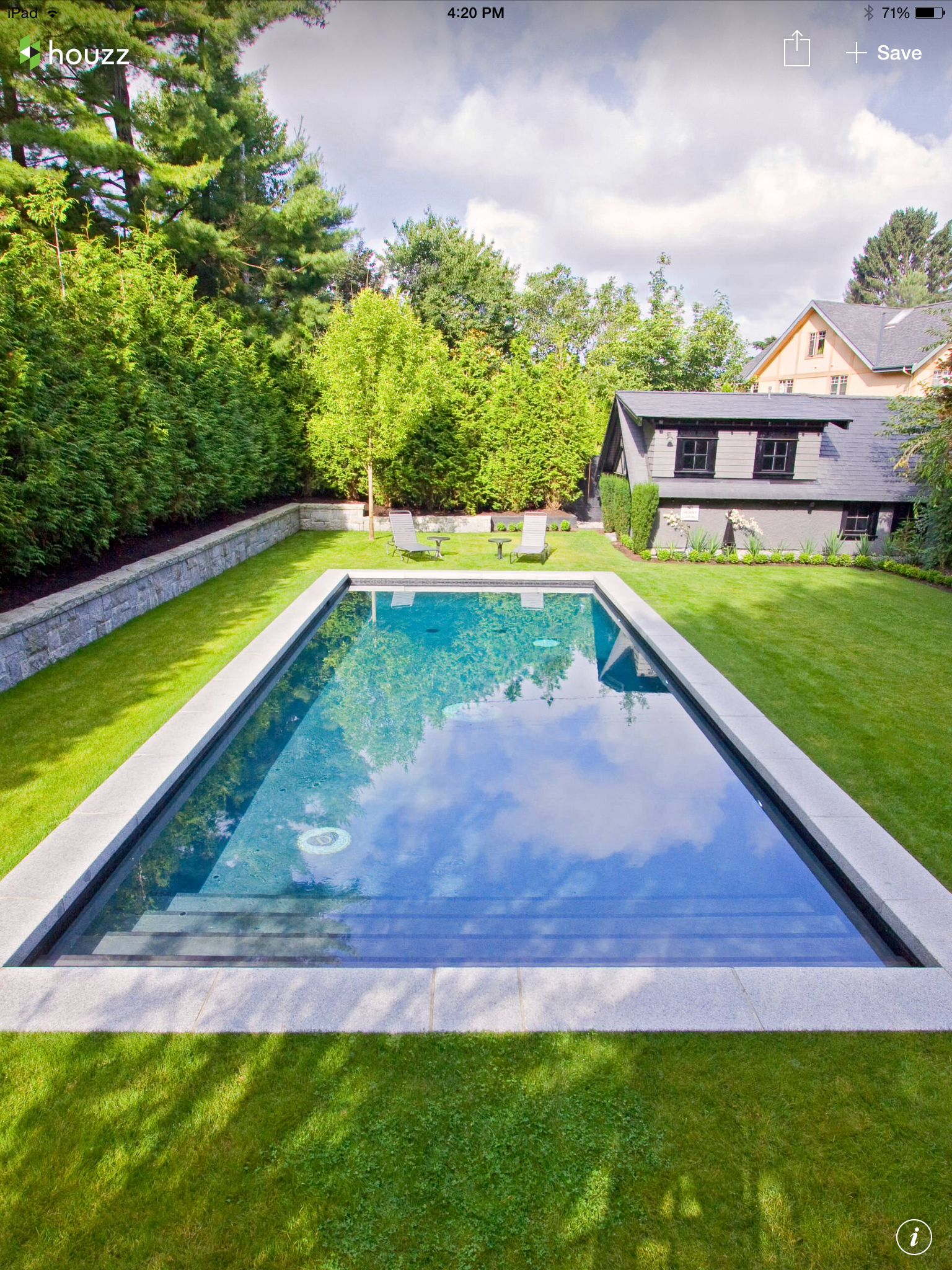 Simple classy pool outdoor decor ideas swimming for Backyard inground pool designs
