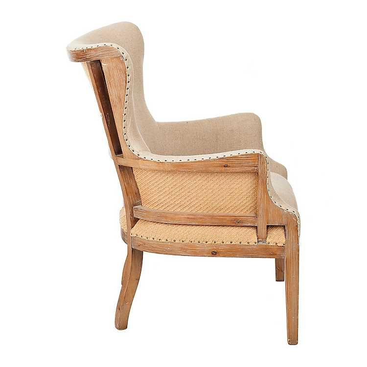 Brooks Exposed Wood Back Accent Chair With Images
