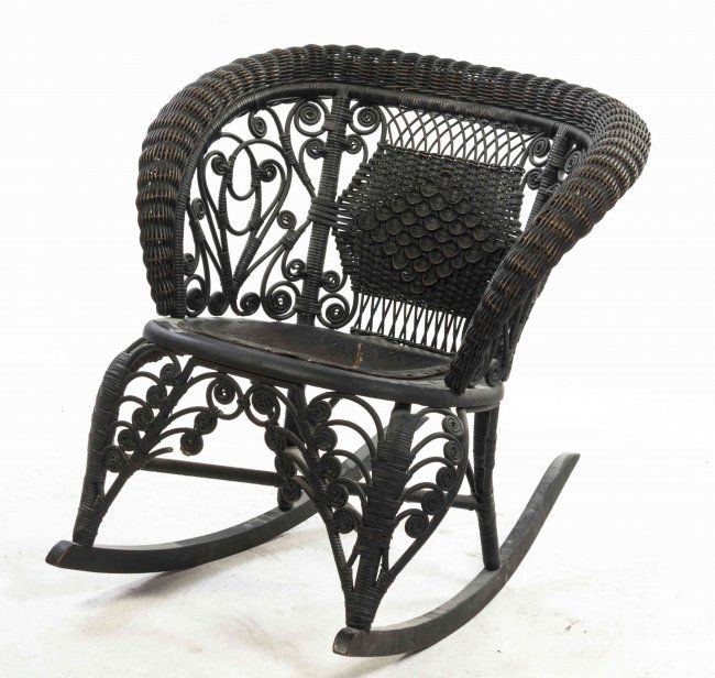 wicker rocking chair hickory king beds a victorian