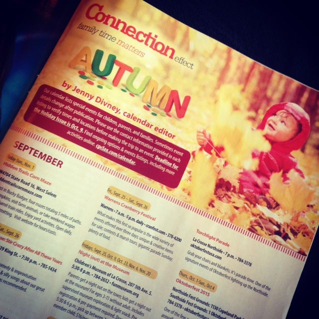Check out all of the wonderful events coming up this season in the Fall issue of Coulee Parenting Connection magazine!