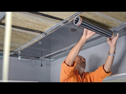 Installer Un Plafond Chauffant Bricolage Avec Robert Youtube Isolation Combles Isolation Isolation Plafond