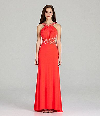 Morgan and Co Beaded LowBack Gown #Dillards this is my prom dress ...