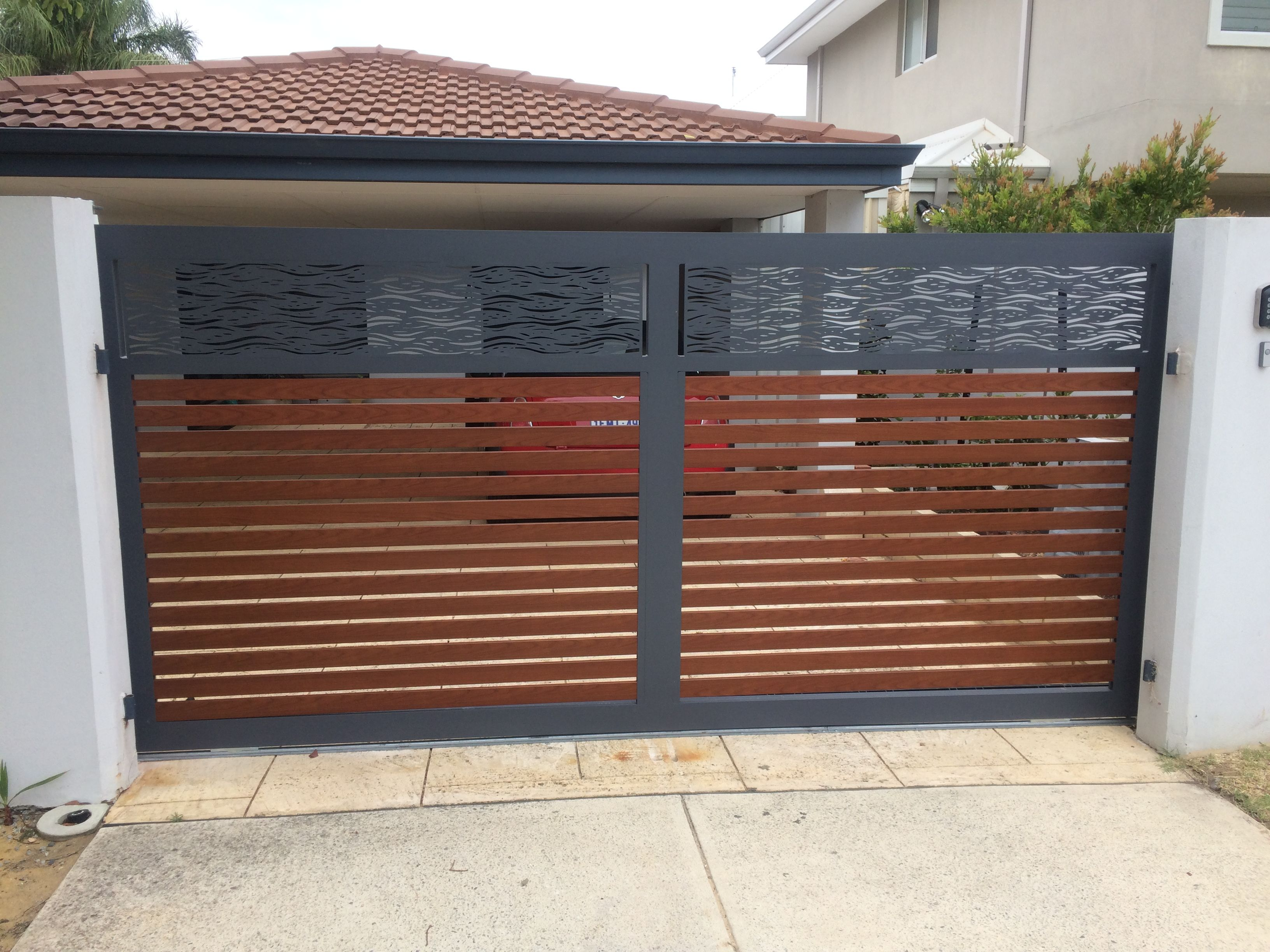 Olivia Electric Sliding Gate Wooden Cladded Electric Driveway Gate Straight Top Wooden Electric Driveway Ga House Gate Design Driveway Gate Sliding Gate
