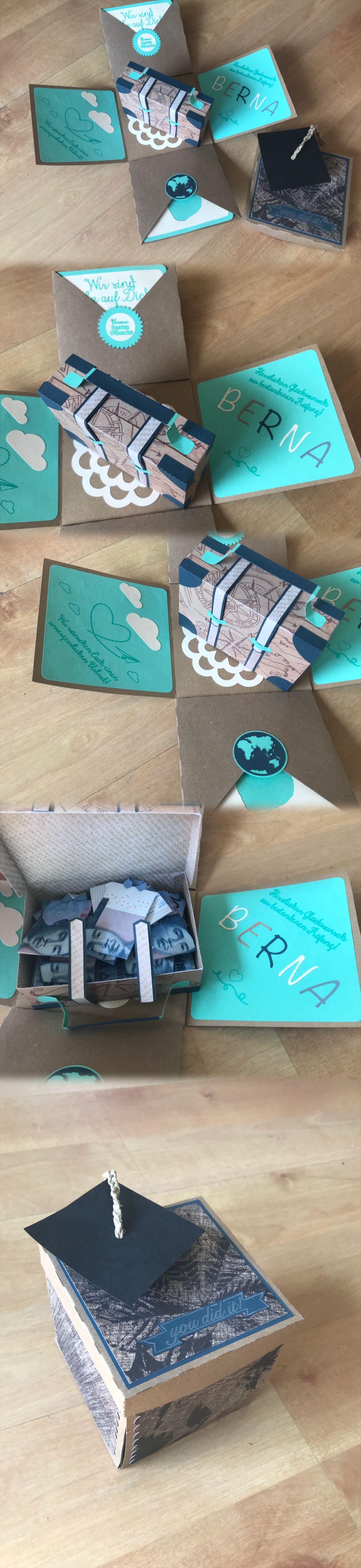 Explosionsbox Geldgeschenke Box Karte Gluckwunsch Zur Prufung