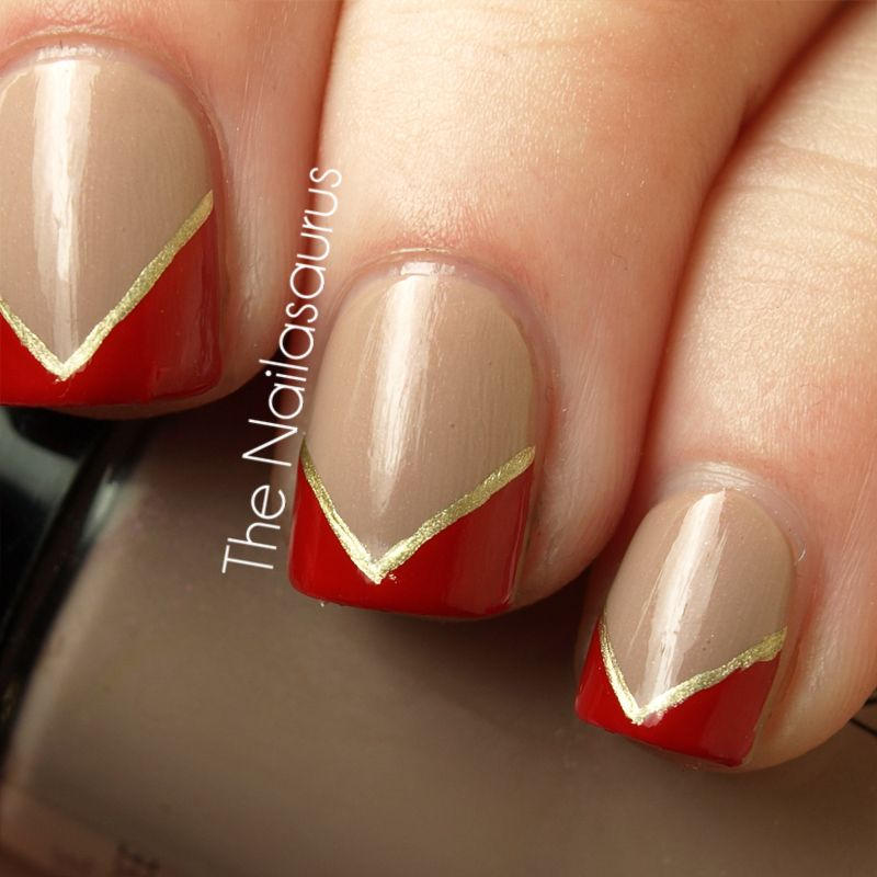 Red Nail Polish Lana Del Rey: Cult Nails Cruisin' Nude As A Base Then Freehanded. The