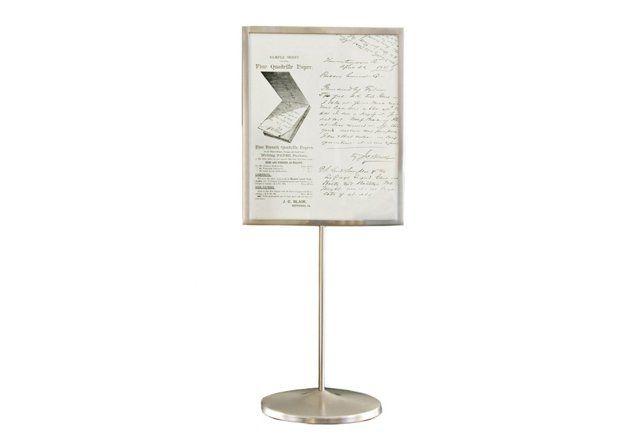 Vintage Nickel Pedestal Frame, 8\
