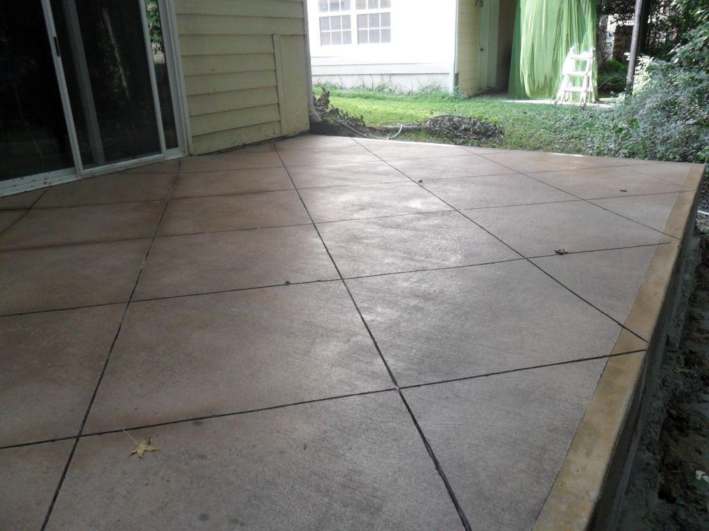 Scoring Concrete Patio