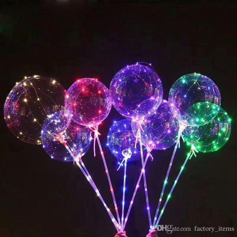 "18/"" LED String Light Up Clear Creative Balloon Christmas Wedding Birthday Party"