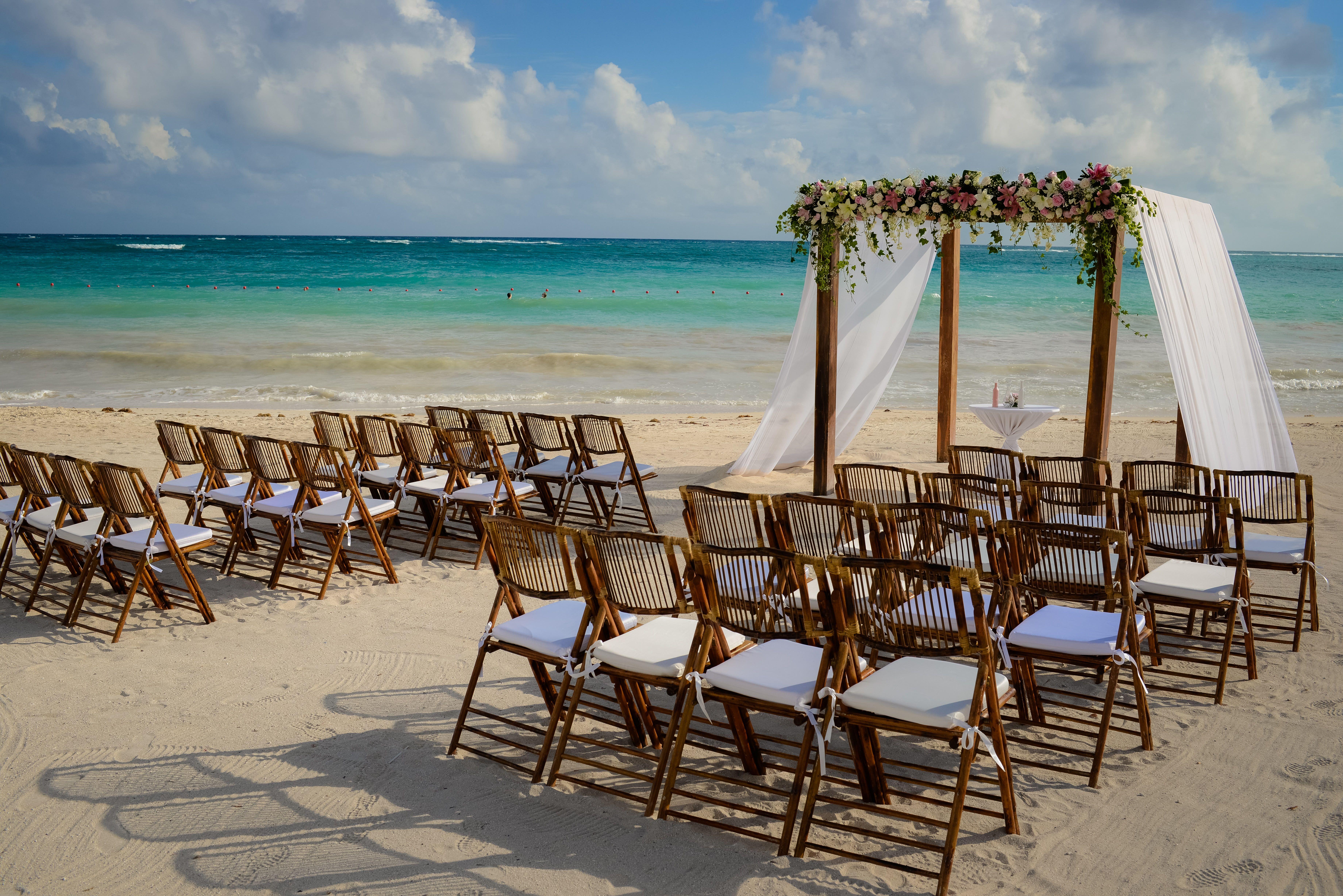Beautiful Beach Ceremony Set Up Here At Dreams Tulum Resort Spa Destinationwedding We Dreams Tulum Dreams Tulum Resort Destination Wedding Locations Beach