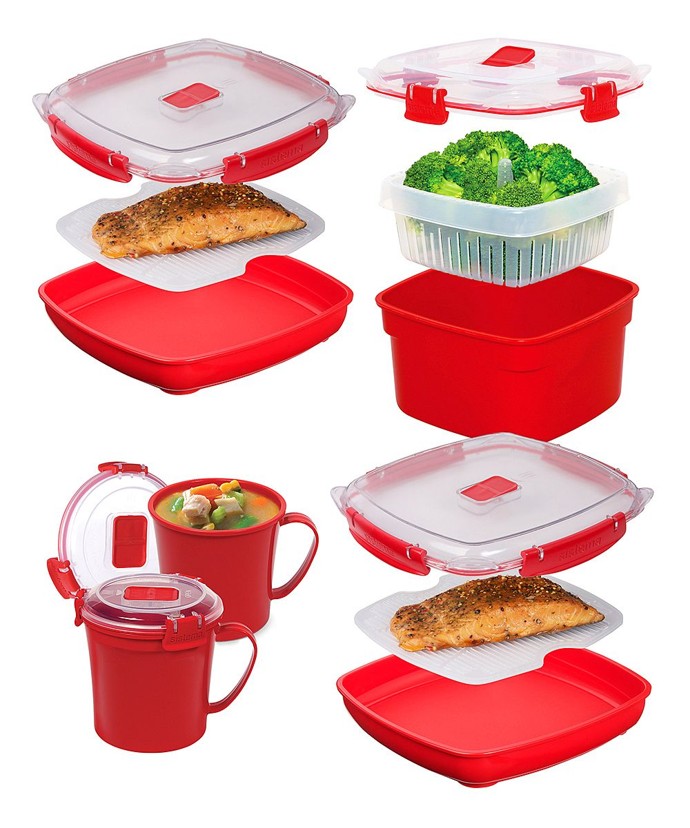 Simplify Your Life Tips To Master Your Weekday Dinner Menu Red Microwave Container Set Food Storage Containers
