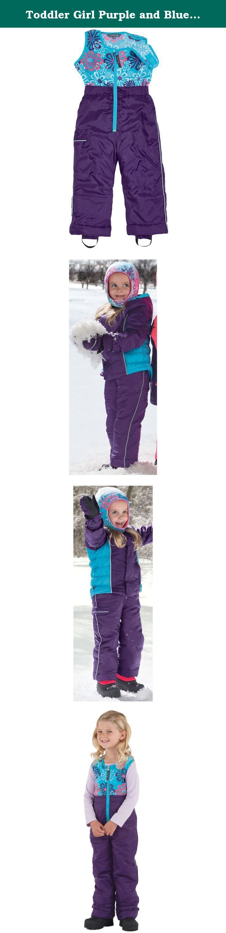 37b6908ca585 Toddler Girl Purple and Blue Waterproof Winter Snow Pants by Cozy ...