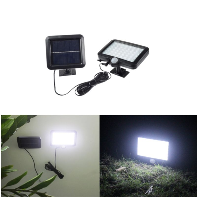 56 Led Solar Light Pir Motion Sensor Solar Powered Outdoor Garden Light Security Flood Light Spot E Outdoor Solar Lights Solar Lights Diy Backyard Solar Lights