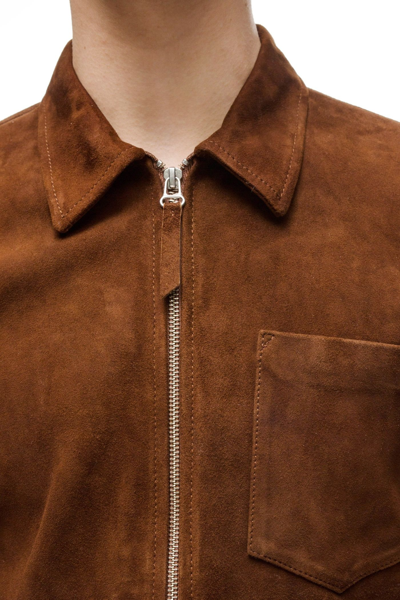 68fa0e51dc68 Our Legacy Suede Zip Shirt Brown - Our Legacy