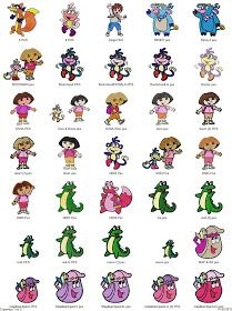 Free Machine Embroidery Designs Download: Donald, Goofy, Dora - 58 embroidery designs