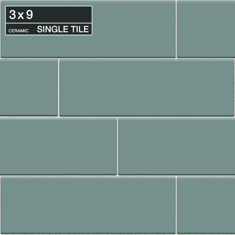 "Daltile QH42-391P Natural Hues Aspen 9"" x 3"" Flat Ceramic Multi-Surface Tile (Sp Aspen Tile Multi-Surface Tile Field Tile"