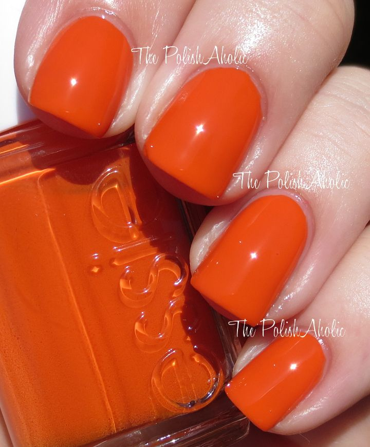 Essie Summer 2014 Collection Swatches - Roarrrrange is a bright ...
