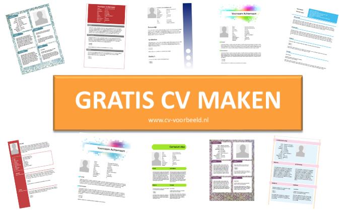 Maak een gratis CV op www.cvvoorbeeld.nl Sjablonen