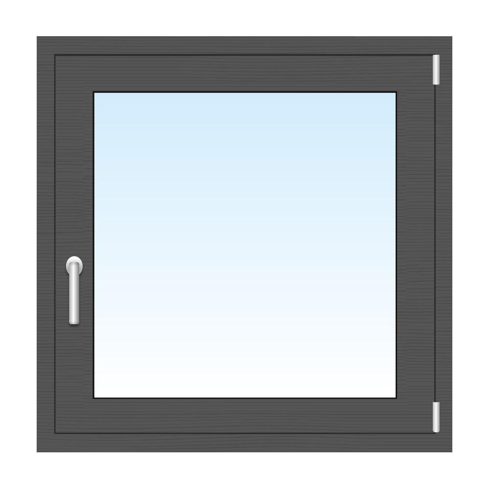 Graue Kunststofffenster holzfenster in grau farbige fenster