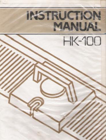 Link To Hk 100 Knitting Machine Instruction Manual Knitting