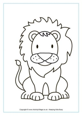 Meerkat Colouring Page Lion Coloring Pages Coloring Pages Lion