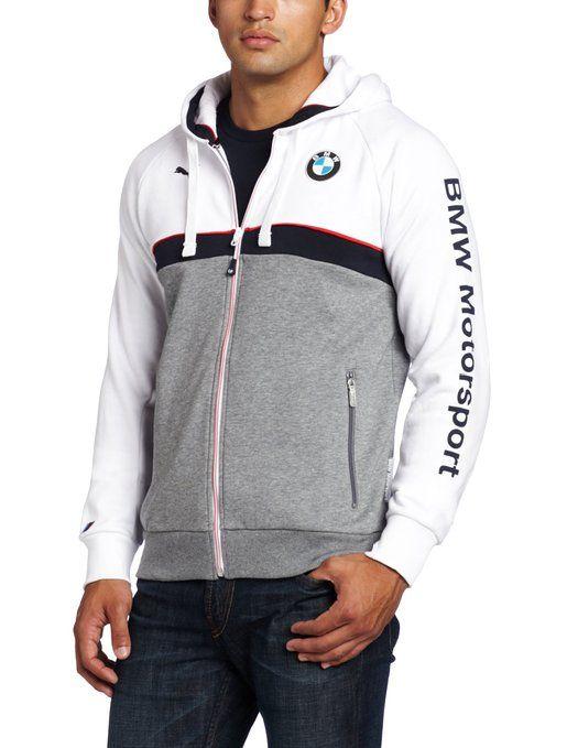 puma men 39 s bmw hooded sweat jacket white x large golf. Black Bedroom Furniture Sets. Home Design Ideas
