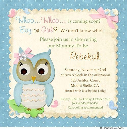 Butterfly owl baby shower invitation pastel birdie whoo fresh boy or girl surprise owl shower invitation design filmwisefo Images