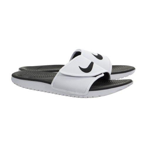 1d7361a16f5c Nike Kawa Men s Adjustable Slide Sandal White Black) (White Black