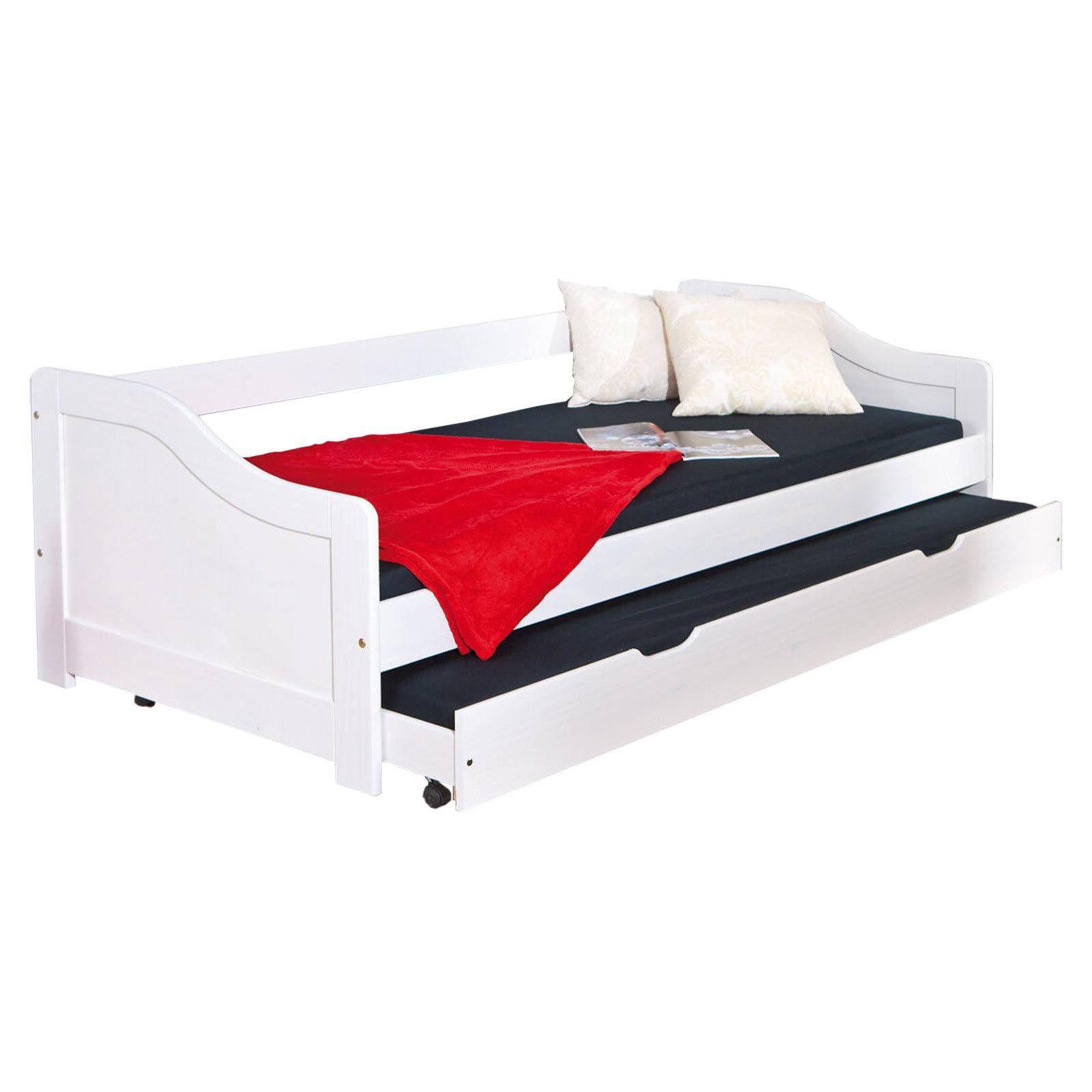 Schau Mal Was Ich Bei Roller Gefunden Habe Sofabett Leonie Weiss Massivholz 2 Liegeflachen Sofa Bett Bett Massivholz Sofa