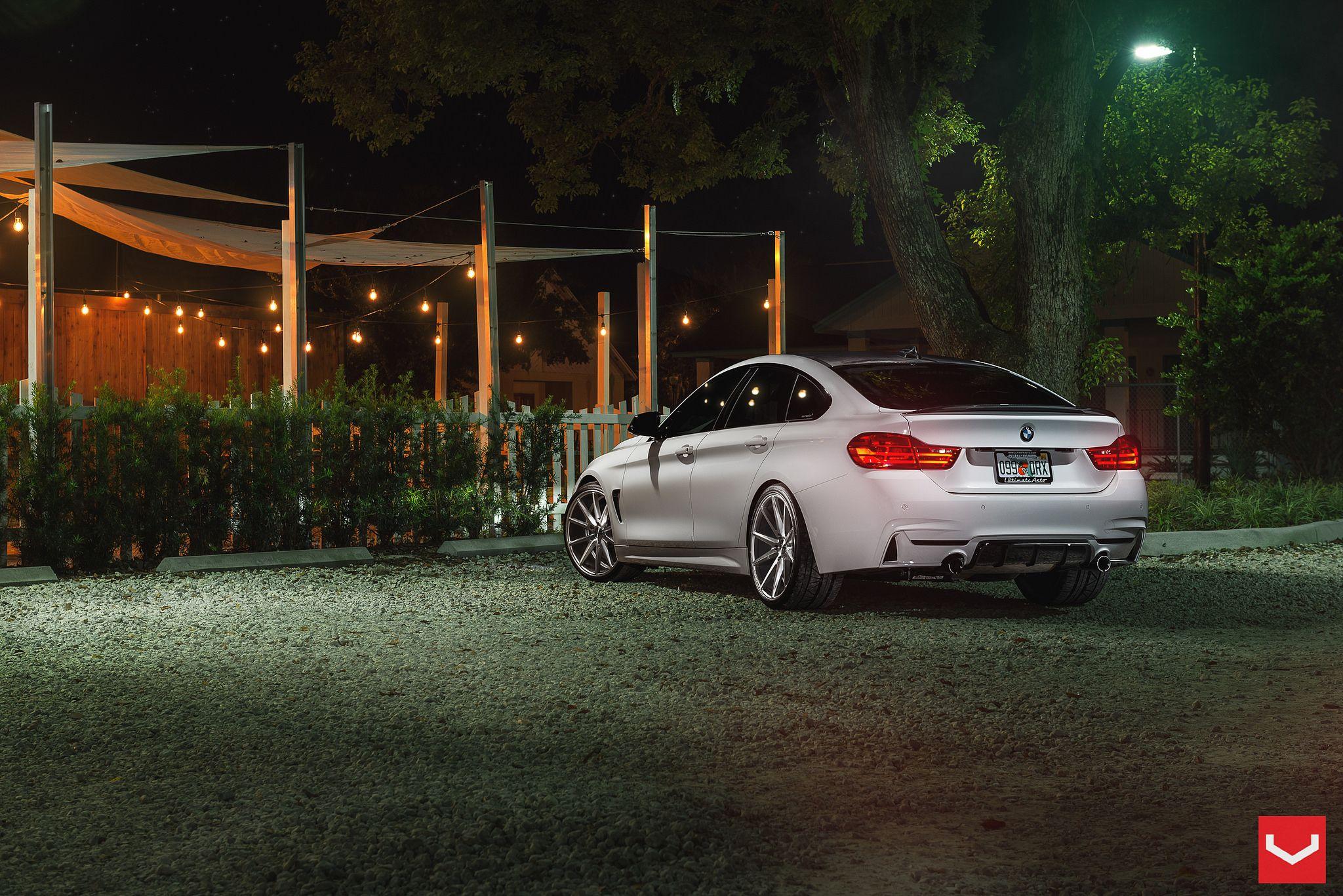 Alpine White BMW Series Gran Coupe On Vossen Wheels Httpwww - 2014 bmw 4 series gran coupe price